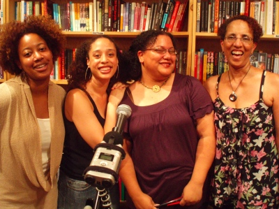 From L to R: Me, Alaya Dawn Johnson, K. Tempest Bradford, Linda Addison