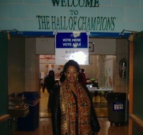 Me at the polling place.