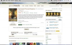 screenshot of 100K's page on Goodreads