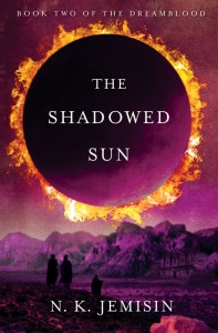 The Shadowed Sun cover; shows an eclipsed sun above a desert