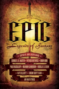Cover of EPIC, showing some of the names published.