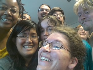 Some members of Clarion UCSD mugging for the camera, and me
