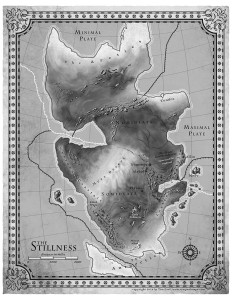 Map of a continent designed by Tim Paul